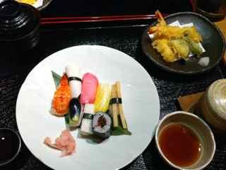 Tsukemono Sushi - Vegetarian Sushi using pickles